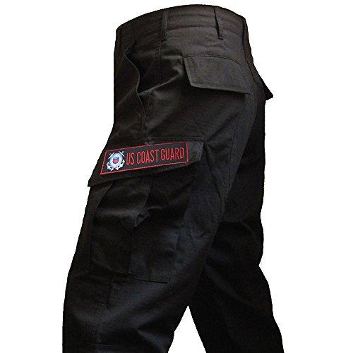 Pantaloni militari cargo ACU coast guard, guardia costiera americana Nero
