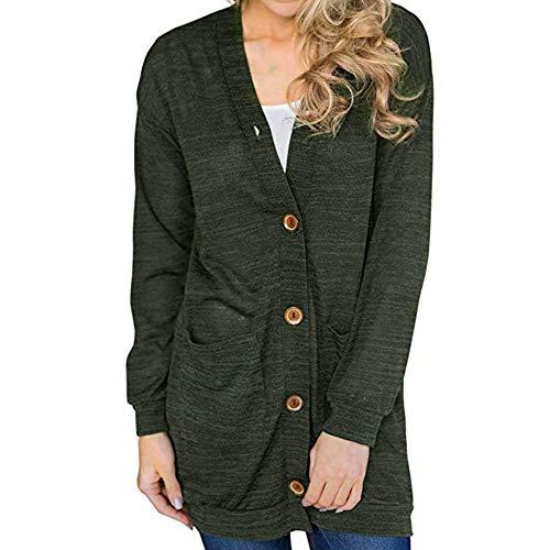 Damen Langarmshirt Strickjacke Kimono Cardigan Cover Up Patchwork Outwear Mode Beiläufig Übergangsmantel von Innerternet