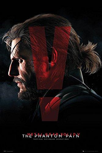 empireposter - Metal Gear Solid - 5 - Cover The Phantom Pain - Größe (cm), ca. 61x91,5 - Poster, NEU -