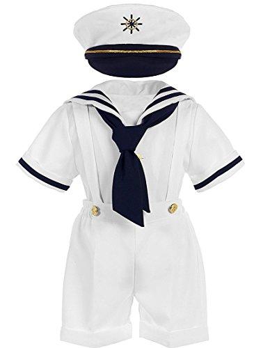 Entzückender, festlicher Baby Jungen Matrosen Anzug inkl. Kappe Gr. 56, 62/68, 74/80 (56)