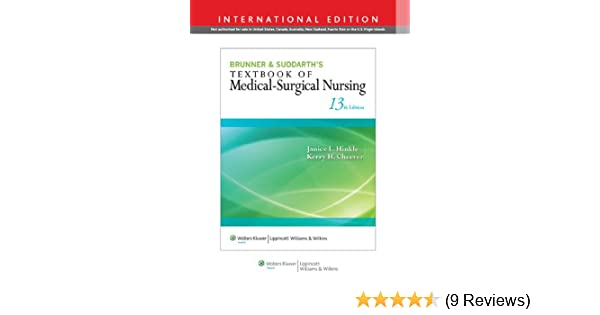 Buy brunner suddarths textbook of medical surgical nursing buy brunner suddarths textbook of medical surgical nursing international edition book online at low prices in india brunner suddarths textbook of fandeluxe Image collections