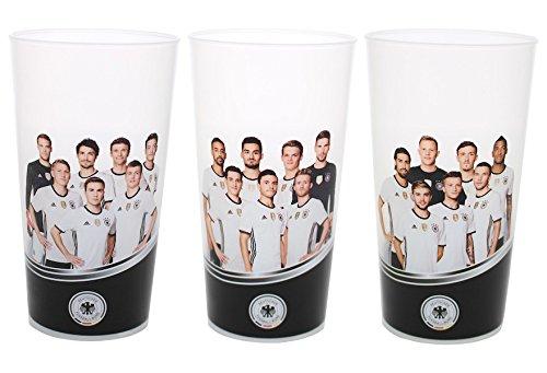 3er DFB Becher Set 0,3L Die Mannschaft Deutsche Nationalmannschaft Getränke Fußball Fan Party Mehrweg Stadion Design Cup Kunststoff Trink-Becher (keine Echt-Glas Gläser)