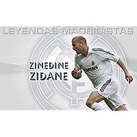 Silk Print Poster Zinedine Zidane 7F7340 24inch x 36inch // 60cm x 90cm Seide Plakat