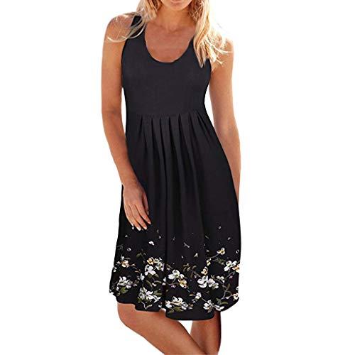 Dorical vestito senza maniche donna estate sexy abiti da spiaggia casual abito senza stampa floreale schienale copricostume mare vestiti taglie forti da cocktail