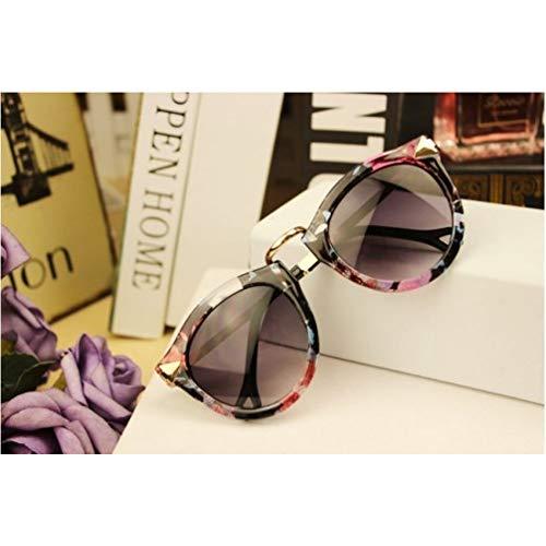 KCJKXC Vintage Sonnenbrillen Damen Marken Design Retro Runde Sonnenbrille Weiblich