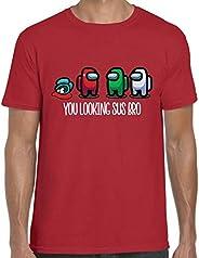 Juyuntong Kids Among Us Game T-Shirt - Among Us You Looking SUS Bro Imposter Gaming T-Shirt Kids Boys Girls T-