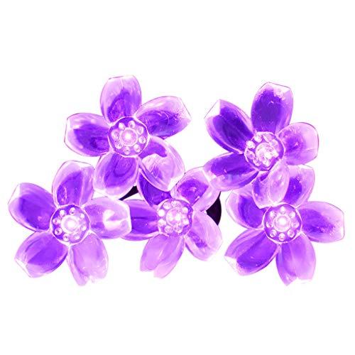 0 LED Lichterkette Solar Garten Licht LED Außenleuchte Blume (Lila) ()