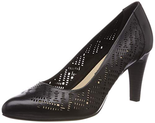 Tamaris Damen 1-1-22456-22 Pumps, Schwarz (Black 1), 39 EU - Leder Pumps