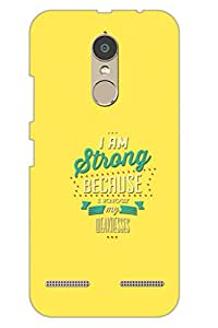 AMAN I Am Strong 3D Back Cover for Lenovo K6