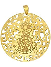 Medalla Virgen Rocío Plata Chapada en Oro