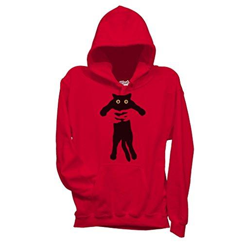 Felpa BAD CAT - DIVERTENTE by Mush Dress Your Style Rossa