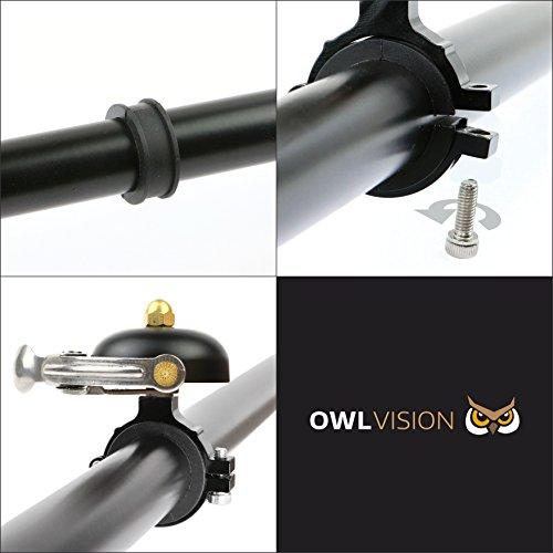 OWL VISION Fahrradklingel Hoot – Classic (mini black) - 5