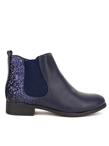 Cendriyon, Bottine Blue LOVANI Mode Chaussures Femme Bleu