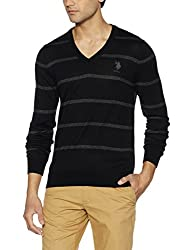US Polo Assn. Mens Synthetic Sweater (8907378317476_USSW0633_Medium_Black)