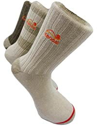 Herren Knöchellänge thermische Socken (Kendal 3 pack ankle high cream sock)