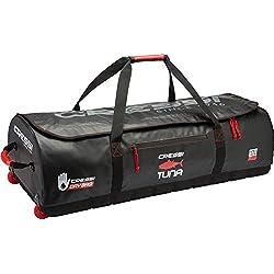 Cressi Tuna Dry Wheel Bag Grand Sac étanche avec Roues Unisex-Adult, Noir/Rouge, 120 L