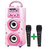 DYNASONIC (3er Gen) - Draagbare Karaoke Bluetooth-luidspreker met microfoon inbegrepen | USB en SD-lezer, FM-radio Model 025 (Model 15)
