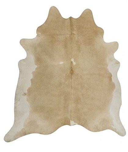 NaDeco Kuhfell Beige Weiß 2-3m² | Kuhfell Teppich | Stierfell | Rinderfell