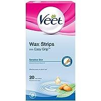 Veet Wachsstreifen Sensitive Skin für Körper 20 pro Packung preisvergleich bei billige-tabletten.eu