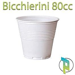 Palucart 1000 bicchierini caffe bicchiere plastica bianco 80cc bar macchinetta del caffè