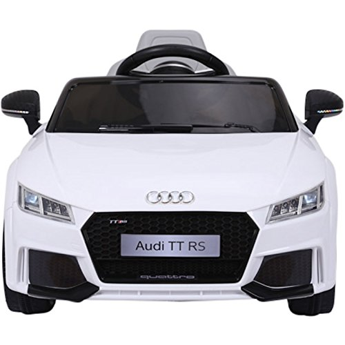 Licensed Audi TT RS 12V Children's Ride On Car with 2.4G Remote - White