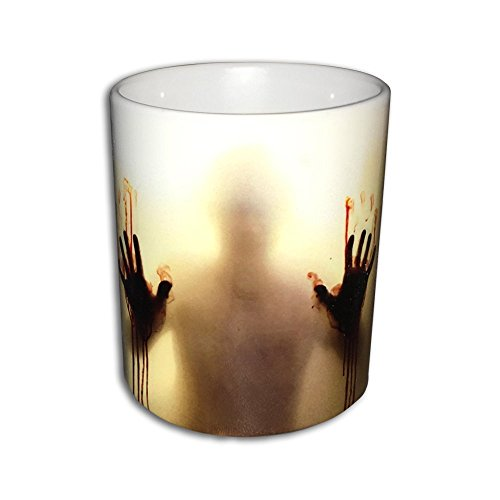 LUCKKYY® custom morphing mugs the walking dead Coffee Tea Milk Hot Cold Heat Sensitive Color changing Black and White Ceramic Mug