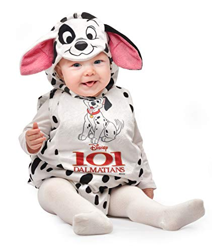 Ciao Baby Dalmata Kostüm Disney, 6-12 Monate, Weiß, Schwarz, 11256.6-12