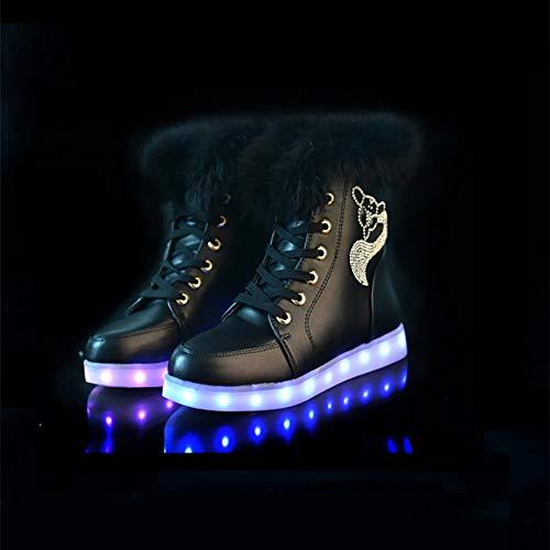 96ec86aa744 Zapatos de Mujer Comfort LED Botas de Nieve Moda Botas de Peluche Cortas  Zapatos de Navidad