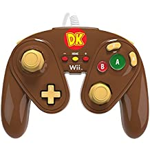 PDP - Mando Fight Pad Con Cable, Diseño Donkey Kong (Nintendo Wii U)