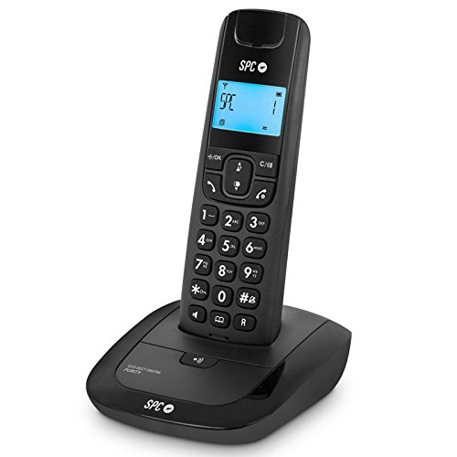 SPCTelecom TEL317270N - Teléfono inalámbrico DECT, Color Negro
