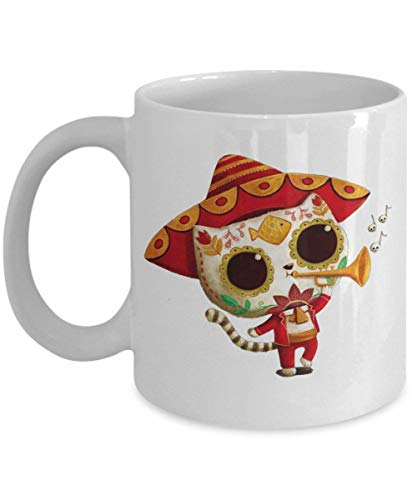 The Day of The Dead Cute Cat El Mariachi - Happy Halloween Day Coffee Mug Gift Kaffeetasse Mugs - Halloween Great Gifts Idea for Men, Women, Kids, Mom,