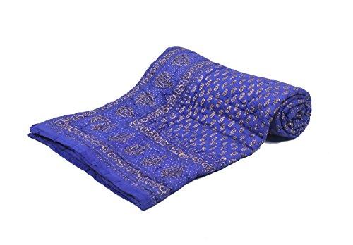 Jaipur Textile Hub Single Floral Cotton Jaipuri Quilt/Razai(Size:60*90 inch Approx) ANQ-1