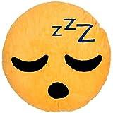 Coussin décoratif peluche Smiley doux oreiller Emoji émoticônes idée cadeau, choisir:Dormir Ki-02
