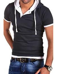 MT Styles 2in1 contrasté T-Shirt avec capuche BS-678-92