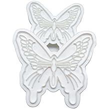 2pcs mariposa cortador molde Sugarcraft Fondant pastel decoración DIY herramienta
