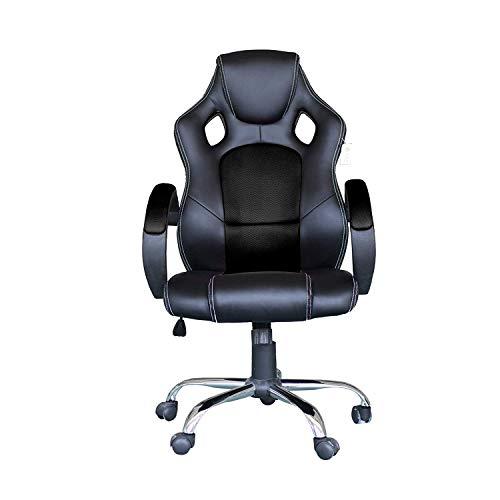 YUHT Racing Bürostuhl Gaming Stuhl Chefsessel Computertischstuhl Schreibtischstuhl,Schwarz Mesh Schwarz PU Leder Ergonomischer Hochleistungs-Schreibtischstuhl