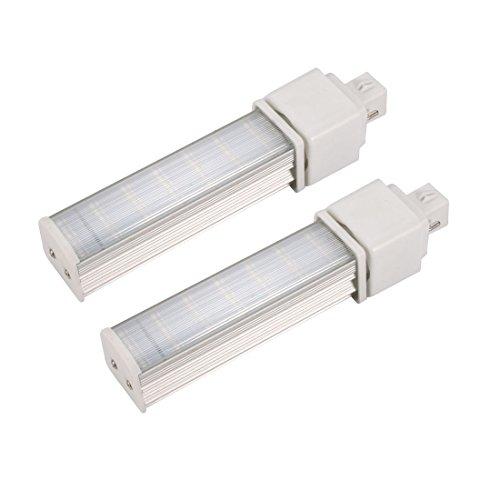 sourcing map 2Packung DIY Teile für PLC Lampe G23 7W PL-C Lampengehäuse klar Deckel - 7w Cfl