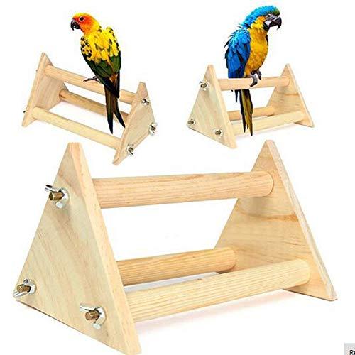 XDYFF Holz Sitzstange Spielzeug Ständer Pet Bird Vogelständer bar Diamant Sonnenblume Graupapagei Ständer Ausbildung stecken großes Dreieck Papagei Kauspielzeug