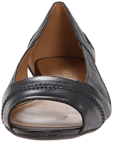 Nine West AfterParty Femmes Cuir Chaussure Plate Black