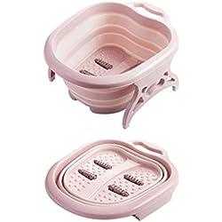 Nordic Home Bassin de lavage pliable en plastique pour massage Pied de bain Pied de baignoire Tonneau de renforcement moussant bassin pied de bain baril