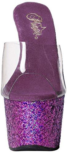 Pleaser Adore 701Lg Sandali, Donna Clr/Purple Holo Glitter