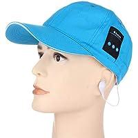 Moda Manos Libres al Aire Libre inalámbrico Bluetooth 4.0 EDR Super Bass Auriculares Cap Azul