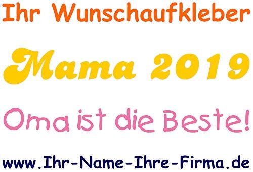 Schriftzugaufkleber mit Name/Wunschtext fürs Auto (16 cm)