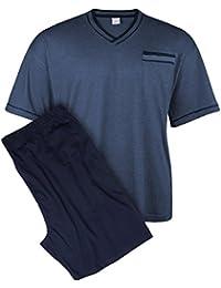 Adamo XXL Pijama corto y cómodo azul-azul oscuro