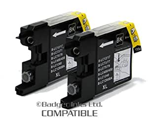 Brother MFC J5910DW Twin Pack Black Compatible Ink Cartridges LC1280