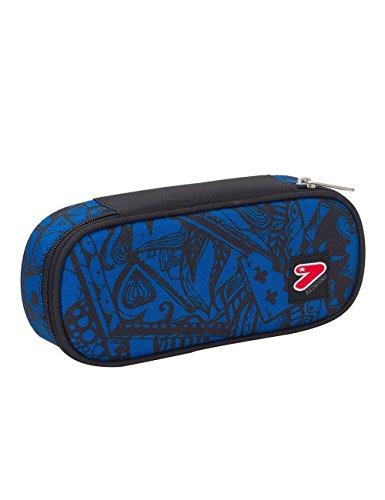 Portapenne scuola seven the double - digital - blu nero - porta penne