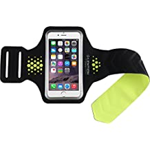 "lention serie deportivo brazalete para de 3,5 ""a 5,7 pulgadas, Black with Green, iPhone 6 Plus/6s Plus & other 5.0-5.7 inch"