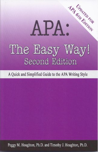 APA: The Easy Way! (Updated for APA 6th edition) (English Edition)