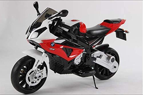 LT 832 Moto eléctrica para niños BMW asiento de cuero funcionamiento con llave (Rojo)