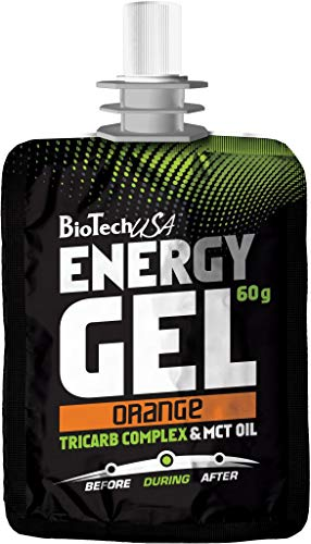 biotech USA Energy Gel, 60g Bolsa, Naranja (3unidades)